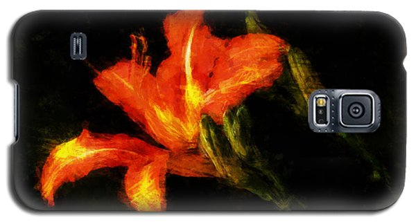 Galaxy S5 Case featuring the digital art A Painted Lily by Cameron Wood