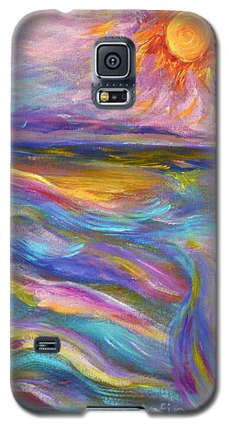 A Peaceful Mind - Abstract Painting Galaxy S5 Case by Robyn King