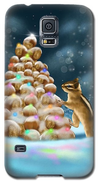 Galaxy S5 Case featuring the painting A Perfect Christmas Tree by Veronica Minozzi