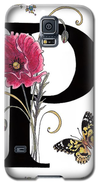 A Pink Poppy And A Painted Lady Butterfly Galaxy S5 Case