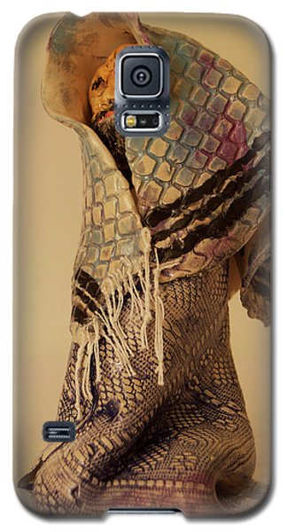 Galaxy S5 Case featuring the sculpture A Prayer In Talit by Itzhak Richter