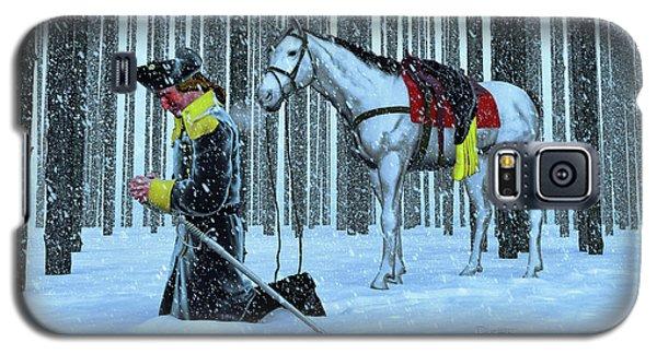 A Prayer In The Snow Galaxy S5 Case by Dave Luebbert
