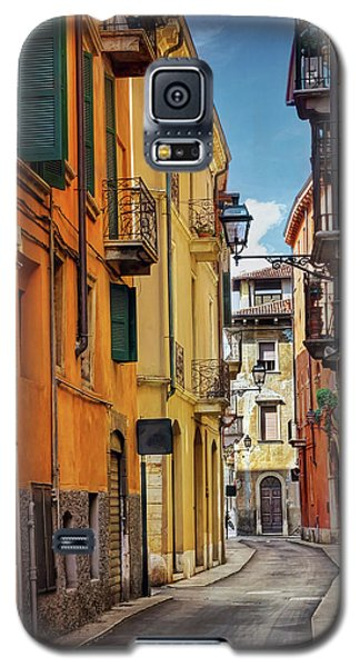 Galaxy S5 Case featuring the photograph A Pretty Little Street In Verona Italy  by Carol Japp