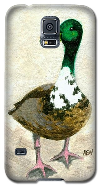 Galaxy S5 Case featuring the painting A Proud Duck by Jingfen Hwu