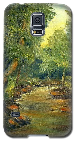Galaxy S5 Case featuring the painting A Quiet Place by Gail Kirtz