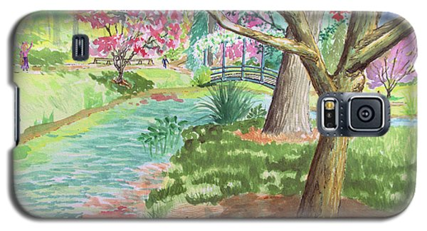A Quiet Stroll In The Japanese Gardens Of Gibbs Gardens Galaxy S5 Case