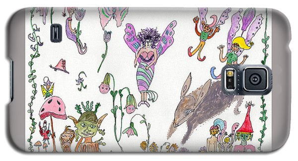 A Rabbit And Some Fairies Galaxy S5 Case