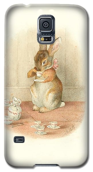 A Rabbit's Tea Party Galaxy S5 Case
