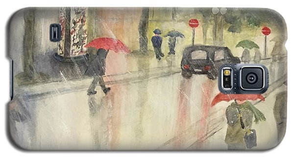 A Rainy Streetscene  Galaxy S5 Case by Lucia Grilletto