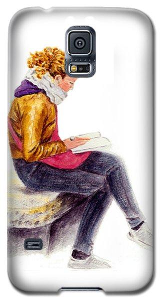 A Reading Girl In Milan Galaxy S5 Case by Jingfen Hwu