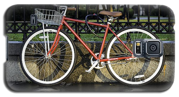 A Red Bicycle Near Jackson Square, New Orleans, Louisian Galaxy S5 Case