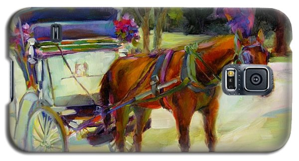 Galaxy S5 Case featuring the painting A Ride Through Central Park by Chris Brandley
