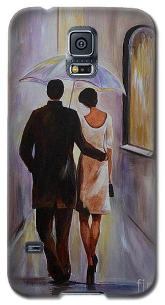 A Romantic Stroll Galaxy S5 Case by Leslie Allen