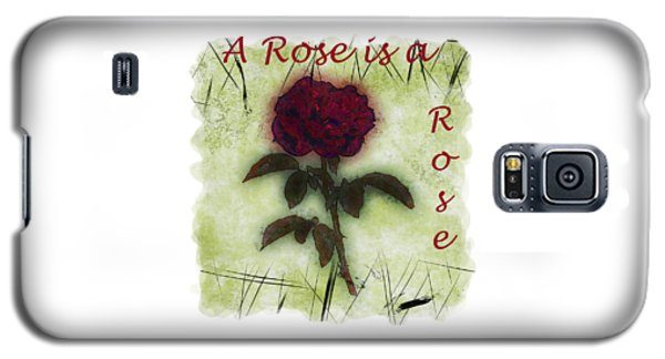 A Rose Galaxy S5 Case