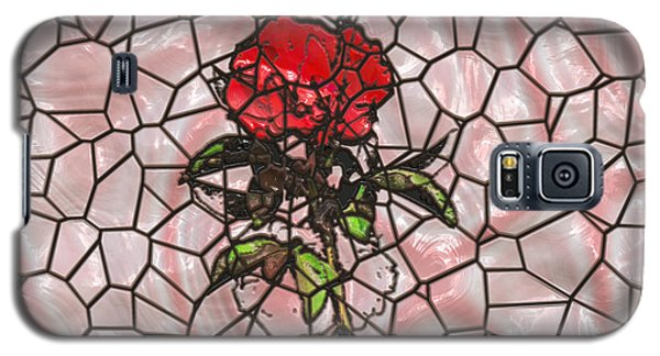 A Rose On Stained Glass Galaxy S5 Case