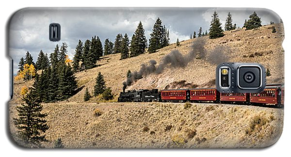 Galaxy S5 Case featuring the photograph A Scenic Railroad Steam Train, Near Antonito In Conejos County In Colorado by Carol M Highsmith