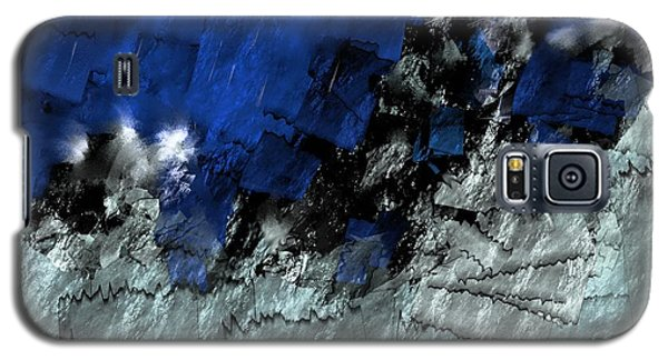 Galaxy S5 Case featuring the digital art A Sea Storm In My Heart by Silvia Ganora