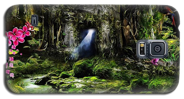 Galaxy S5 Case featuring the mixed media A Secret Place by Gabriella Weninger - David