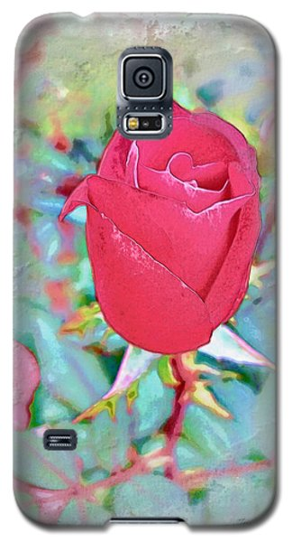 Galaxy S5 Case featuring the photograph A Single Rose In October by Joan  Minchak