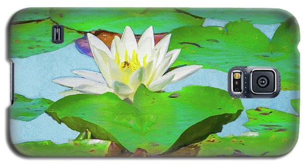 A Single Water Lily Blossom Galaxy S5 Case