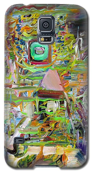 Galaxy S5 Case featuring the painting A Small Portion Of Herself by Fabrizio Cassetta