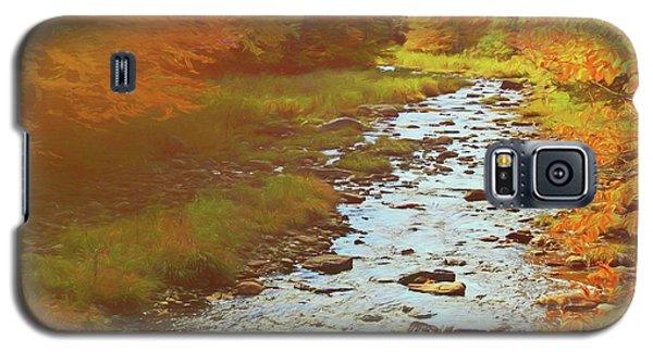 A Small Stream Bright Fall Color. Galaxy S5 Case