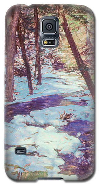 A Small Stream Meandering Through Winter Landscape. Galaxy S5 Case