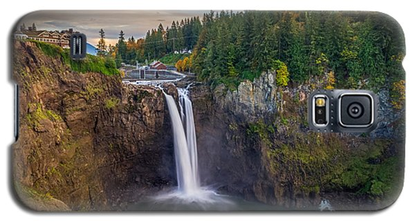 A Snoqualmie Falls  Autumn Galaxy S5 Case