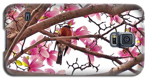 A Songbird In The Magnolia Tree Galaxy S5 Case by Rona Black