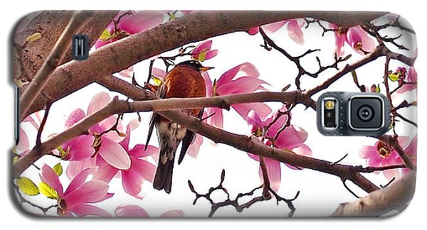 Landmarks Galaxy S5 Case - A Songbird In The Magnolia Tree by Rona Black