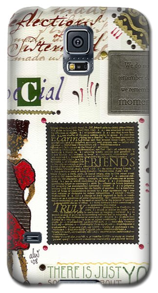 Galaxy S5 Case featuring the mixed media A Special Friend by Angela L Walker