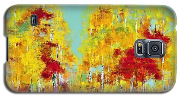 Galaxy S5 Case featuring the painting A Splash Of Red by Frances Marino
