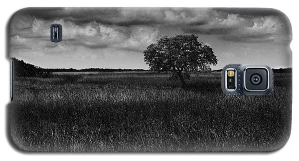Galaxy S5 Case featuring the photograph A Storm Is Coming To Wyoming Grasslands by Jason Moynihan
