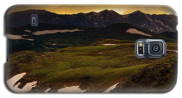 Galaxy S5 Case featuring the photograph A Stormy Alpine Sunset by John De Bord