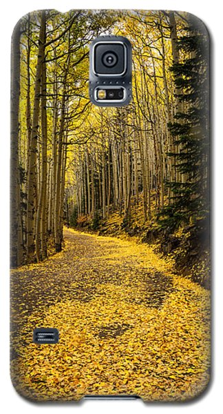 A Stroll Among The Golden Aspens  Galaxy S5 Case