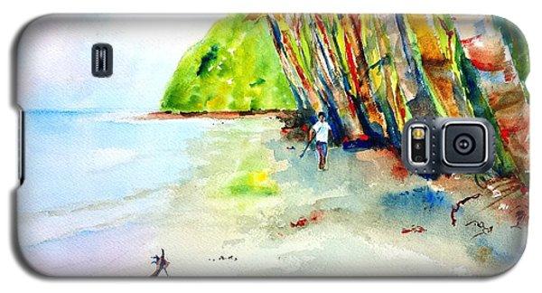 A Stroll On Batibou Beach Dominica Galaxy S5 Case by Carlin Blahnik