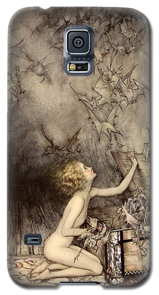 A Sudden Swarm Of Winged Creatures Brushed Past Her Galaxy S5 Case by Arthur Rackham