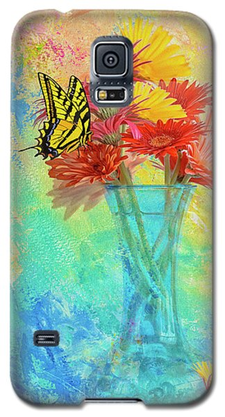 Galaxy S5 Case featuring the digital art A Summer Time Bouquet by Diane Schuster
