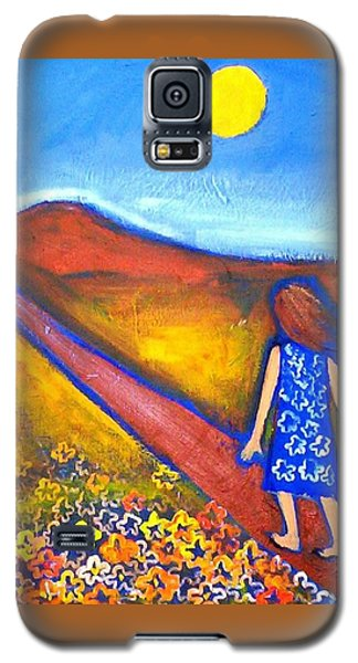 Galaxy S5 Case featuring the painting A Sunny Path by Winsome Gunning