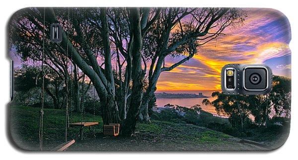 A Swinging Sunset From The Secret Swings Of La Jolla Galaxy S5 Case