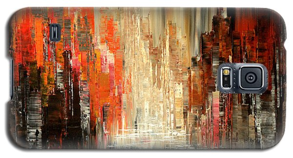 Galaxy S5 Case featuring the painting A Tale Of Two Cities by Tatiana Iliina