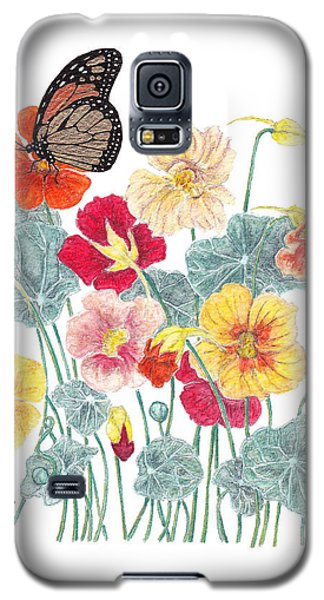 Galaxy S5 Case featuring the painting A Tethered Butterfly by Stanza Widen