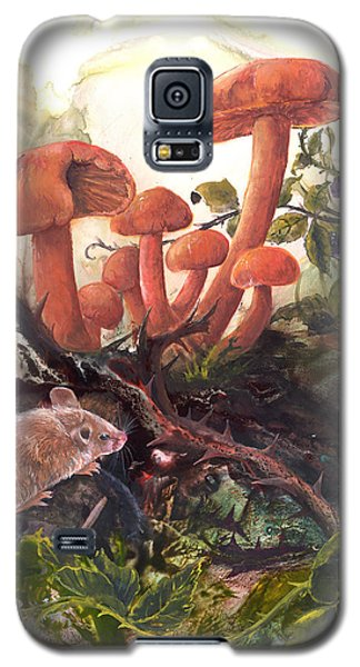 Galaxy S5 Case featuring the painting A Thorny Situation by Sherry Shipley