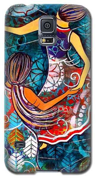 Galaxy S5 Case featuring the painting A Time To Dance by Julie Hoyle