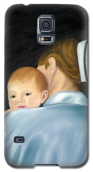 Galaxy S5 Case featuring the painting Comforting A Tradition Of Nursing by Marlyn Boyd