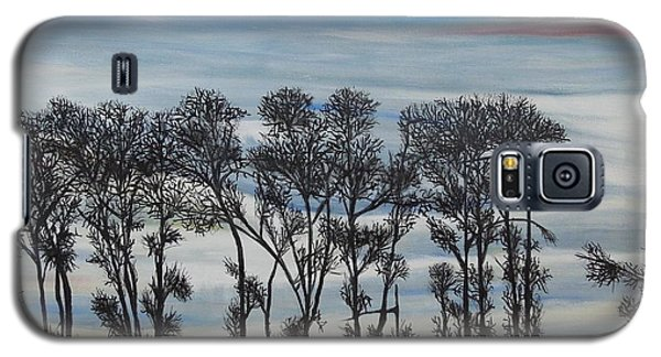 Galaxy S5 Case featuring the painting A Treeline Silhouette by Marilyn  McNish