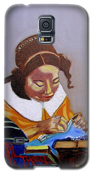 A Tribute To Vermeer  The Lacemaker Galaxy S5 Case
