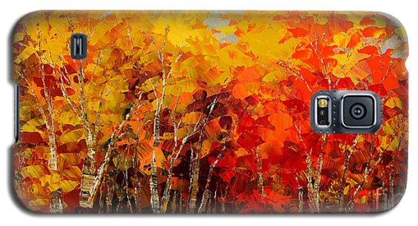 Galaxy S5 Case featuring the painting Turning Leaf by Tatiana Iliina
