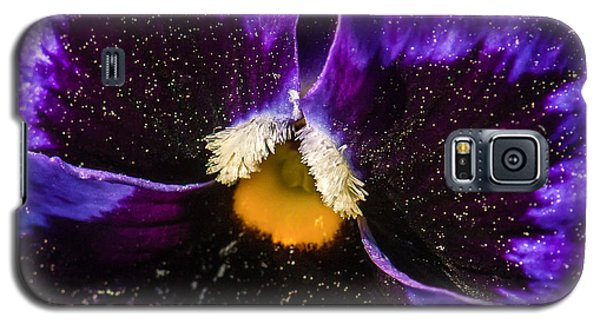 A Universe In A Pansy Galaxy S5 Case by Jim Moore