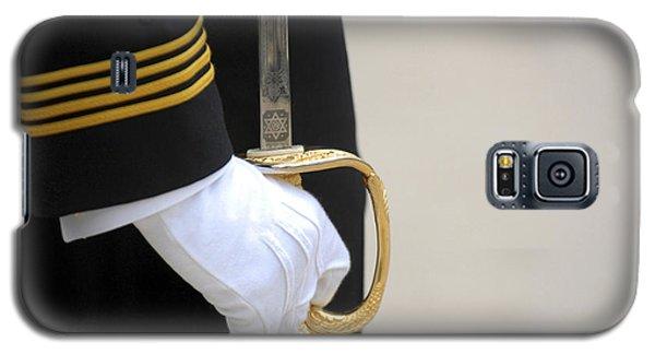 A U.s. Naval Academy Midshipman Stands Galaxy S5 Case